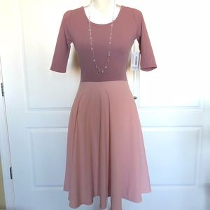 Lularoe Nicole Dress XS pink NWT